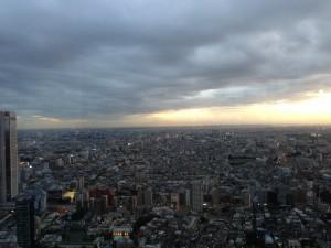 夕暮れの都庁からの景色