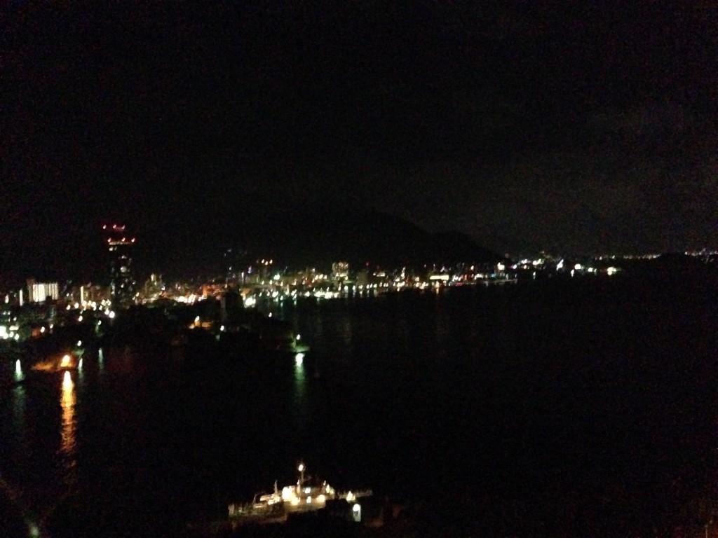 展望台から見える夜景。