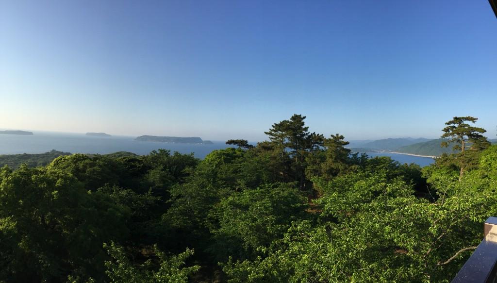 笠山からの展望。