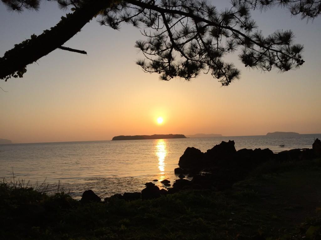 笠山のサンセット。