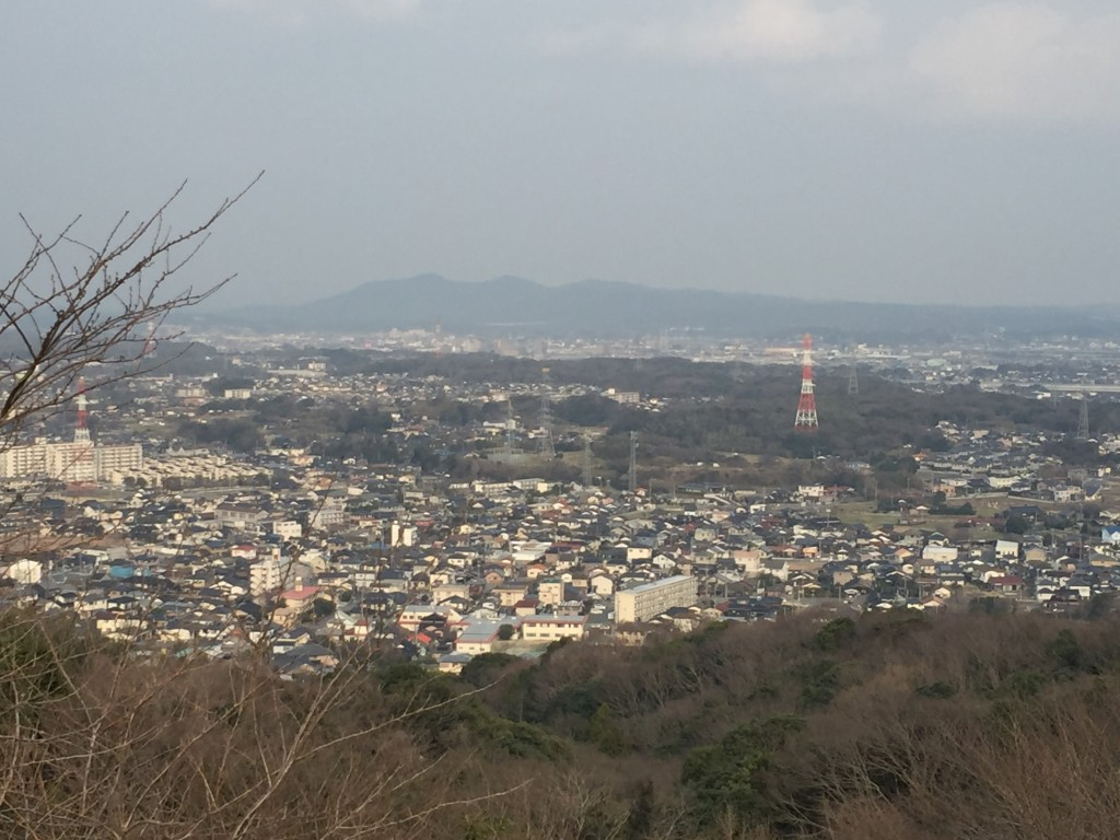 小野田の街を一望。