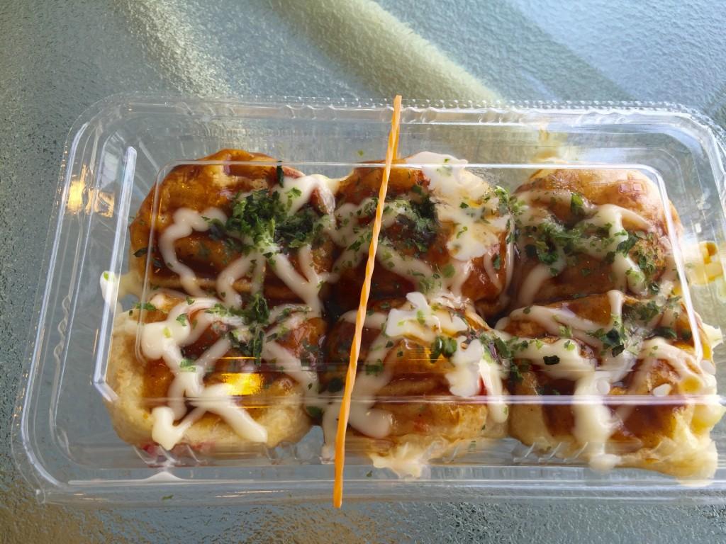 キッチン蛸八のおいしいたこ焼き。