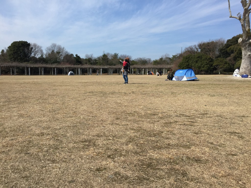 テント張ってピクニックもできる。