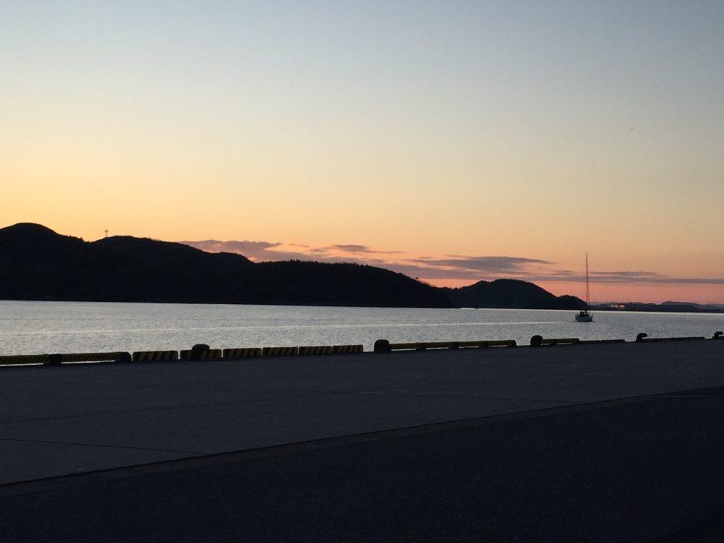 中海の夕焼け。