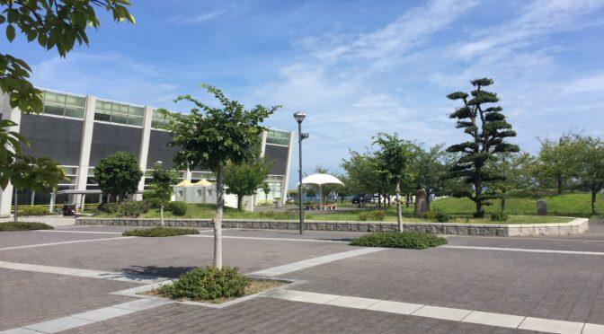 児島マリンプールの噴水公園(倉敷市児島)