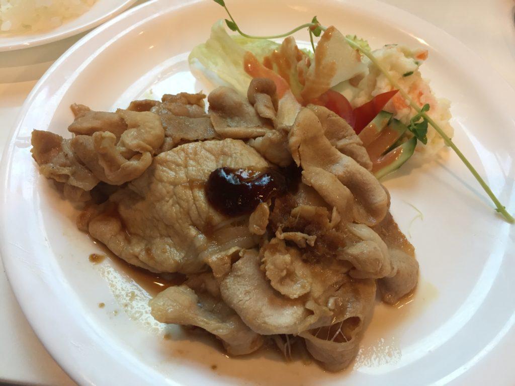 10食限定 週替わりランチ 柔らかヘルシー しゃぶしゃぶ風 豚の生姜焼き