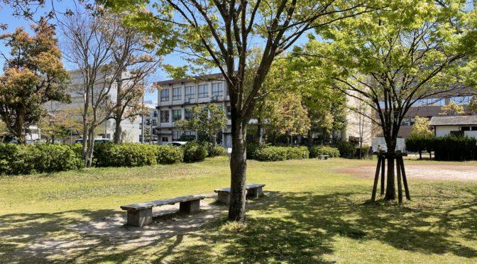 米子市図書館の公園