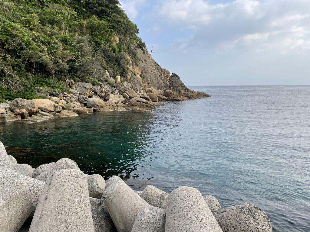 軽尾海岸からの風景。